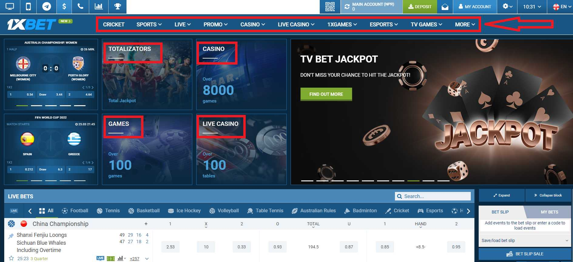 How do players from Nepal register at 1XBET?
